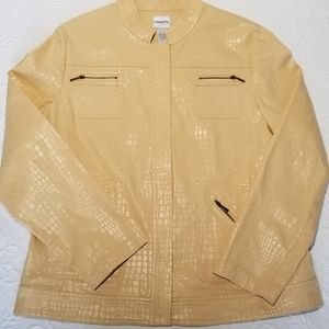 CHICO'S Golden Gleam Jacket Size L/12 NWT